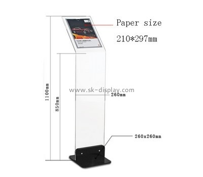 Customized acrylic standing brochure holder BD-191