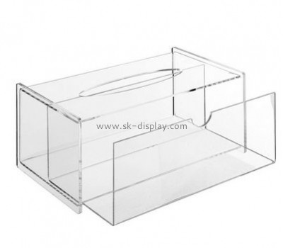 Customized clear acrylic tissue box with holder BD-216