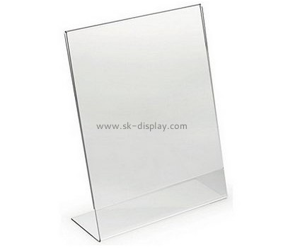 Customized clear acrylic sign holders 8.5 x 11 BD-219