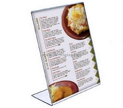 Customized table top acrylic menu holder BD-230