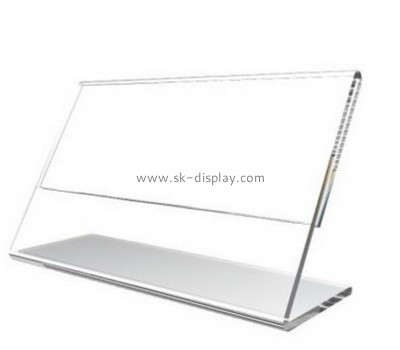 Customized clear acrylic sign holder stands BD-253