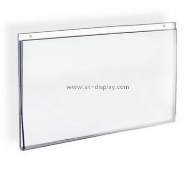 Customized clear acrylic wall mounted sign holders BD-267