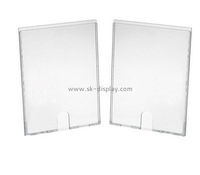 Customized clear acrylic wall mounted sign holder BD-268