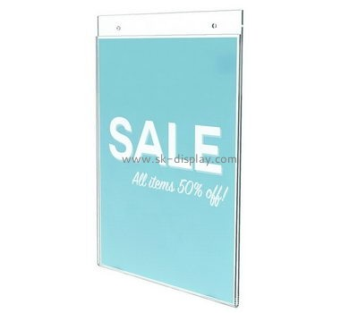Customized clear acrylic sign holders wall mount BD-269