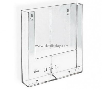 Customized clear acrylic magazine holder wall mount BD-308