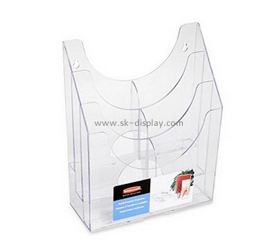 Customized clear acrylic standing file holder BD-320