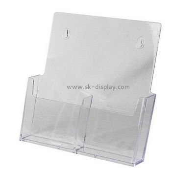 Customized clear plastic literature holder BD-333