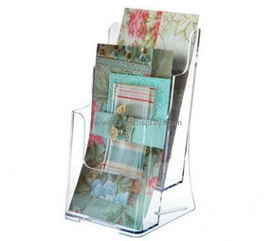 Customized clear acrylic brochure display stands BD-337