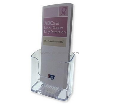 Customized clear acrylic literature holder stand BD-348