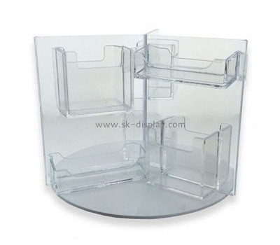 Customized transparent lucite leaflet holder stand BD-363