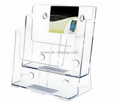 Customized transparent lucite brochure wall holder BD-368