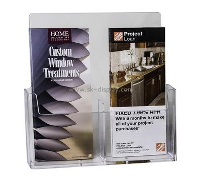 Customized transparent plexiglass brochure holders BD-367