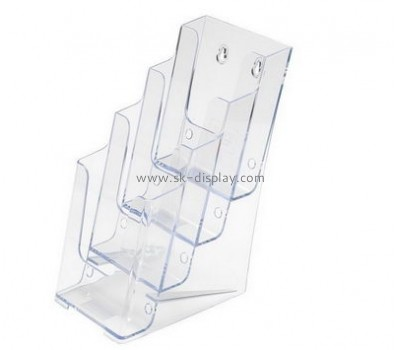 Bespoke transparent lucite literature holder wall mount BD-371