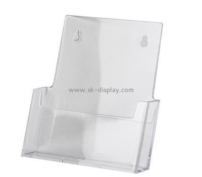 Customized transparent lucite wall mounted pamphlet holder BD-374