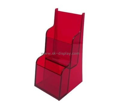 Bespoke red cheap plastic brochure holders BD-388