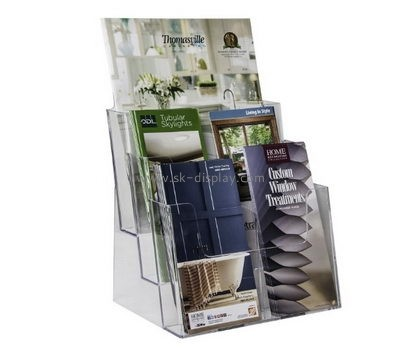 Customized transparent lucite brochure holder stand BD-396