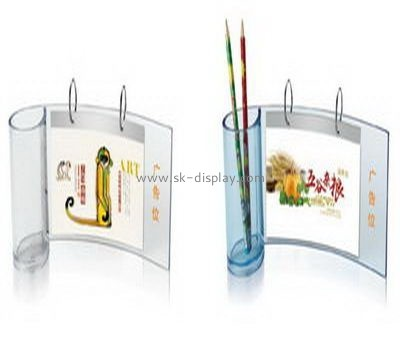 Bespoke transparent acrylic desk calendar with pen holder BD-425