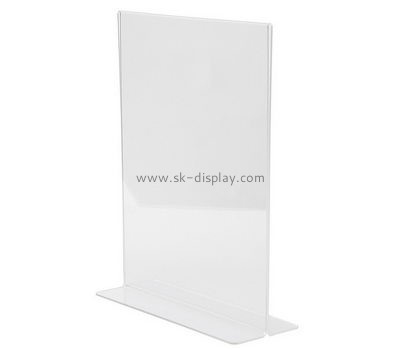 Bespoke table top transparent acrylic poster stand BD-447
