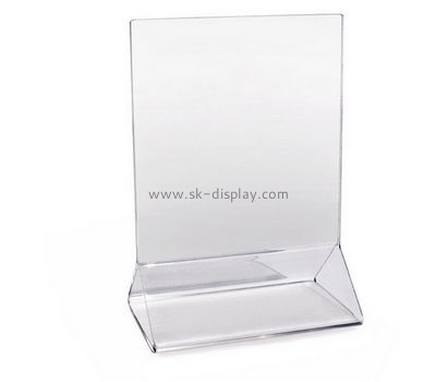 Bespoke clear acrylic stand up sign holder BD-446