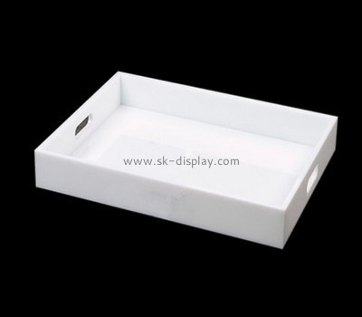 Bespoke acrylic white serving tray STS-005
