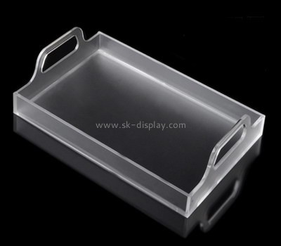 Bespoke clear acrylic serving tray with handles STS-004