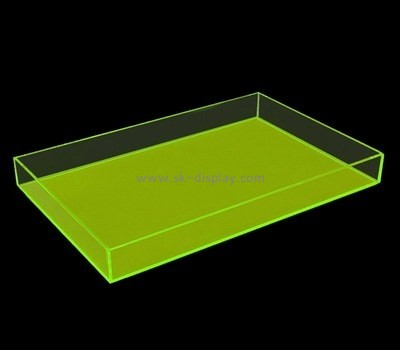 Bespoke green acrylic modern serving tray STS-028