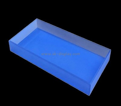 Bespoke blue acrylic restaurant serving trays STS-046