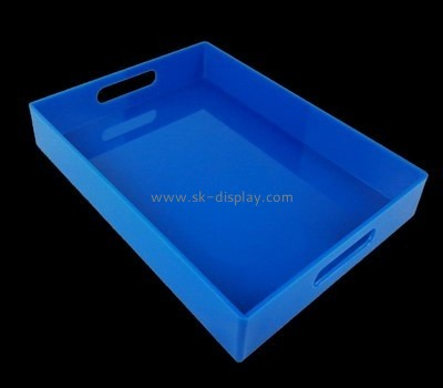 Bespoke blue acrylic food serving tray STS-045