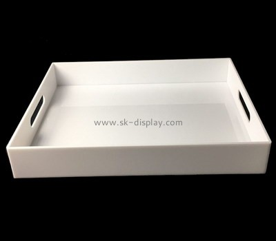 Bespoke white cheap plastic trays STS-052
