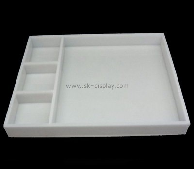Bespoke white plastic serving trays and platters STS-053