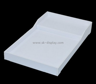 Bespoke white plastic party trays STS-055