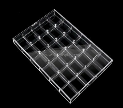 Bespoke clear acrylic divided tray STS-057