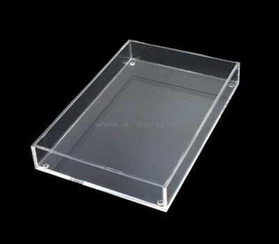 Bespoke lucite clear rectangular tray STS-060