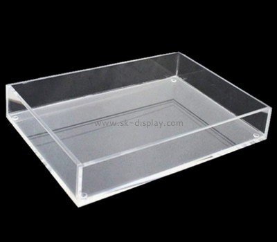 Bespoke clear acrylic tray rectangular STS-063