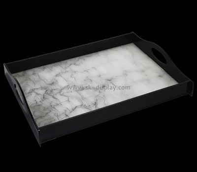 Bespoke acrylic tea trays with handles STS-073