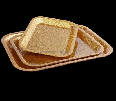 Bespoke acrylic gold serving tray STS-105
