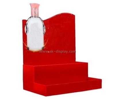 Bespoke tiered red acrylic wine holder WD-080