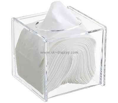 Bespoke clear acrylic tissue box cover DBS-693