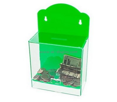 Bespoke acrylic wall mounted donation box DBS-702