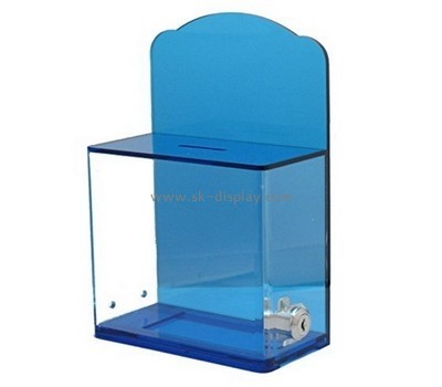 Bespoke blue plastic donation boxes DBS-723