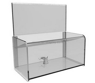 Bespoke acrylic donation boxes with locks DBS-729