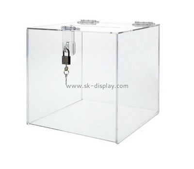 Bespoke acrylic donation boxes for sale DBS-737