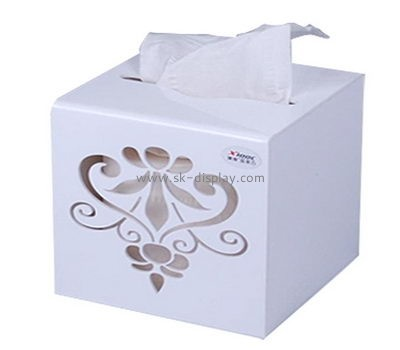 Bespoke white tissue box DBS-746