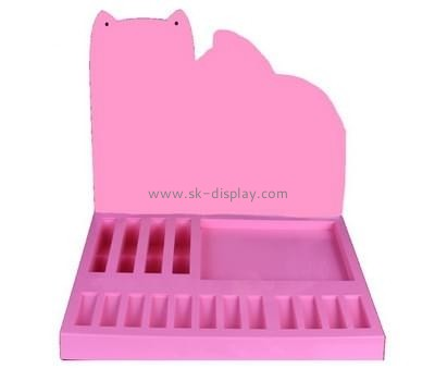 Customize pink acrylic display holder CO-435