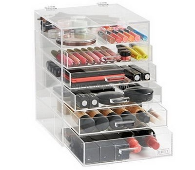 Customize acrylic clear makeup drawer organizer CO-604