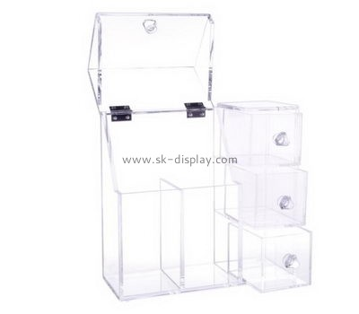 Customize clear acrylic desk organizer CO-619