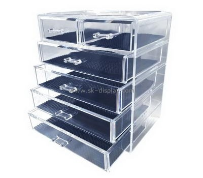 Customize 6 drawer clear acrylic makeup organizer CO-618