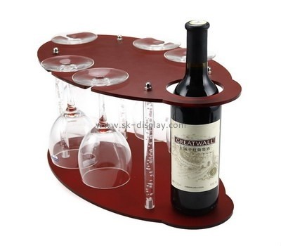 Customize acrylic wine bottle and glass holder WD-103