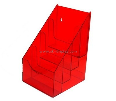 Customize red plastic literature holder BD-487