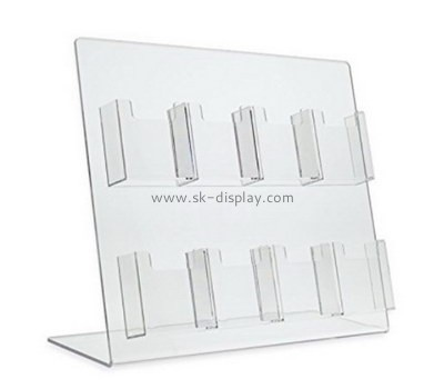 Customize acrylic 8 pocket brochure holder BD-510